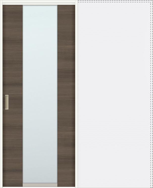 ラシッサD ラテオ 上吊引戸 引込み戸標準 ALUHK-LGN 1620J 錠付 W:1,644mm × H:2,023mm ノンケーシング / ケーシング LIXIL リクシル TOSTEM トステム