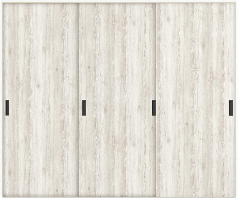 ラシッサD パレット 室内引戸 Vレール方式 引違い3枚建て APHT-LAA 錠無し 2420 W:2,432mm × H:2,023mm ノンケーシング / ケーシング LIXIL TOSTEM