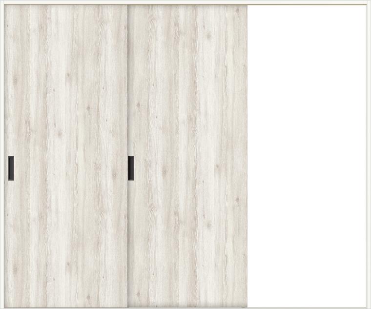 ラシッサD パレット 室内引戸 Vレール方式 片引戸2枚建て APKD-LAA 錠無し 2420 W:2,432mm × H:2,023mm ノンケーシング / ケーシング
