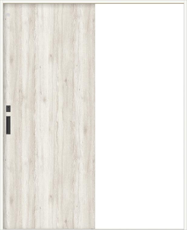 特注サイズ ラシッサDパレット 室内引戸Vレール方式 片引戸トイレ 明り採り付き APKL-LAA 錠付 W:912-1992mm × H:628-2425mm ノンケーシング/ケーシング