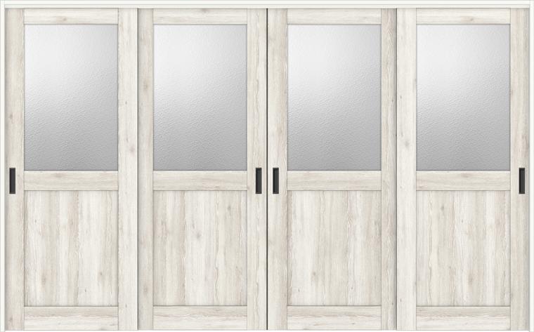 ラシッサD パレット 室内引戸 間仕切り 上吊引戸 引違い戸 4枚建て APMHF-LGH 錠無し 3220 W:3,253mm × H:2,023mm ノンケーシング / ケーシング LIXIL