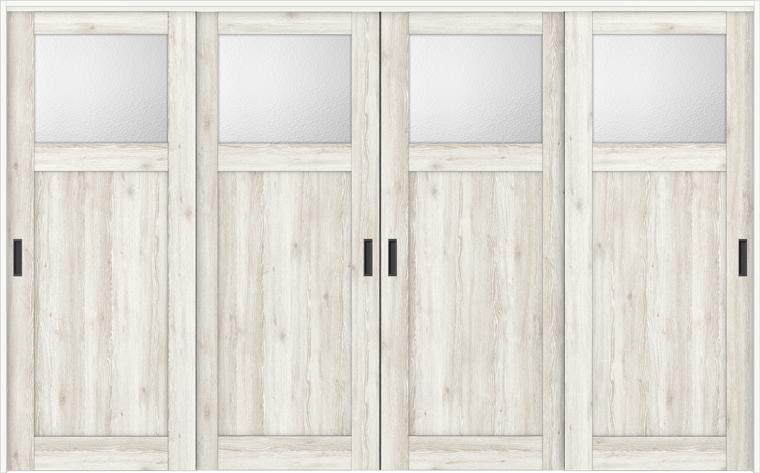 ラシッサD パレット 室内引戸 間仕切り 上吊引戸 引違い戸 4枚建て APMHF-LGJ 錠無し 3223 W:3,253mm × H:2,306mm ノンケーシング / ケーシング LIXIL