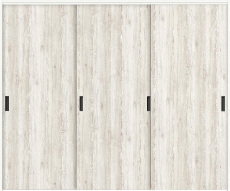 特注サイズ ラシッサD パレット 室内引戸 間仕切り上吊引戸 引違い戸3枚建て APMHT-LAA 錠なし W:1604-2954mm × H:1750-2425mm ノンケーシング/ケーシング