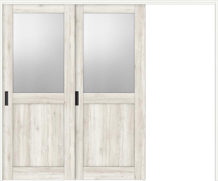特注サイズ ラシッサD パレット 室内引戸 間仕切り上吊引戸 片引戸2枚建て APMKD-LGH 錠なし W:1604-2954mm × H:1750-2425mm ノンケーシング/ケーシング