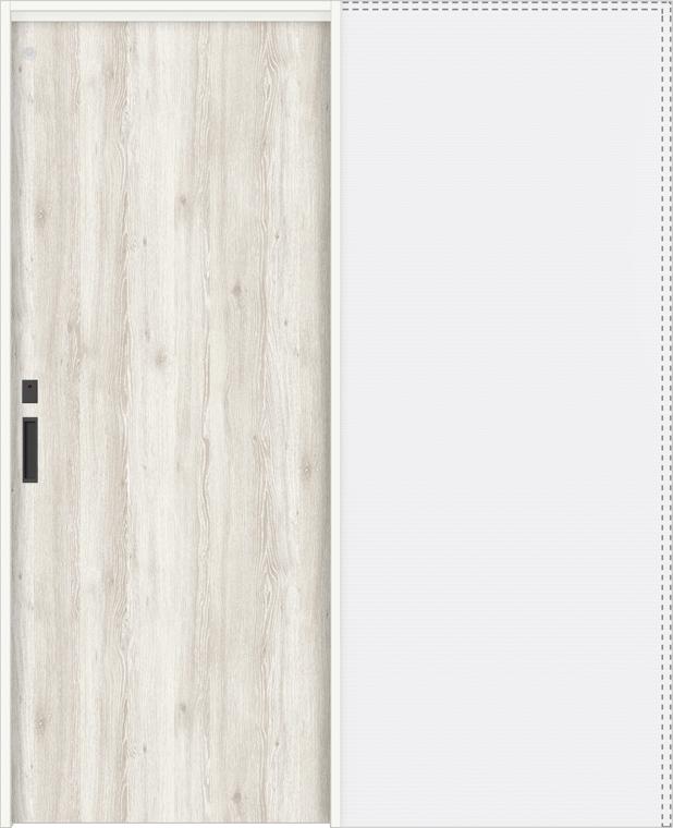 特注サイズ ラシッサDパレット 上吊引戸 引込み戸トイレ(明り採り/採光窓付) APUHL-LAA 錠付 W:1188-1992mm × H:1750-2425mm ノンケーシング/ケーシング