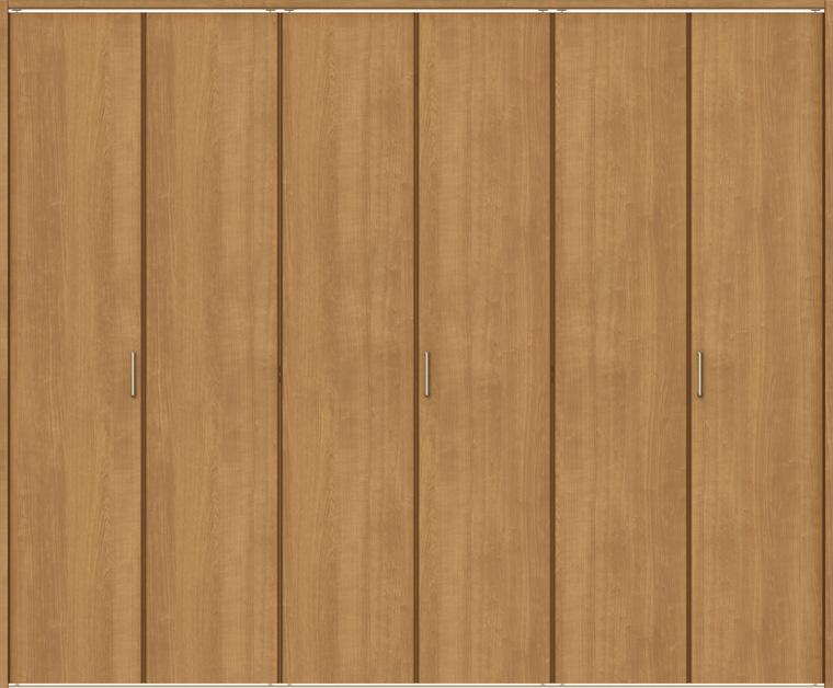 ラシッサS クローゼット 折戸レールタイプ 6枚折戸 ASCF-LAA 2420 W:2,446mm × H:2,023mm ノンケーシング / ケーシング LIXIL リクシル TOSTEM トステム