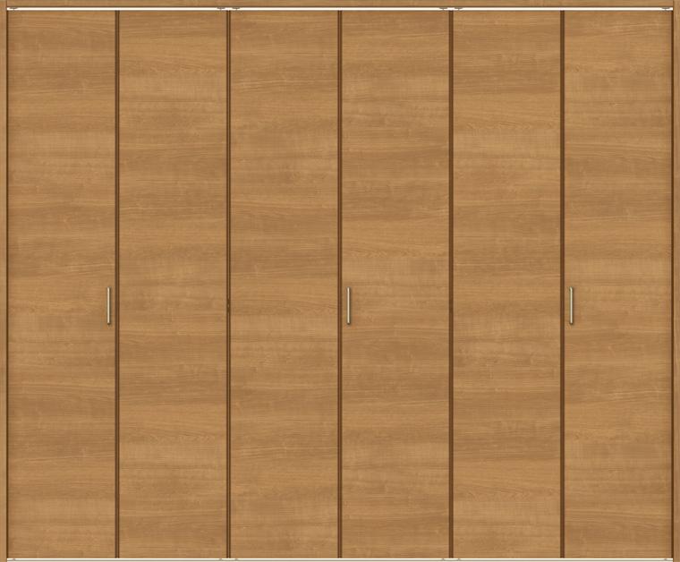 ノンケーシング / リクシル 折戸レールタイプ LIXIL 6枚折戸 トステム ラシッサS H:1545-2425mm TOSTEM クローゼット ケーシング W:1845-2746mm ASCF-LAB 特注サイズ