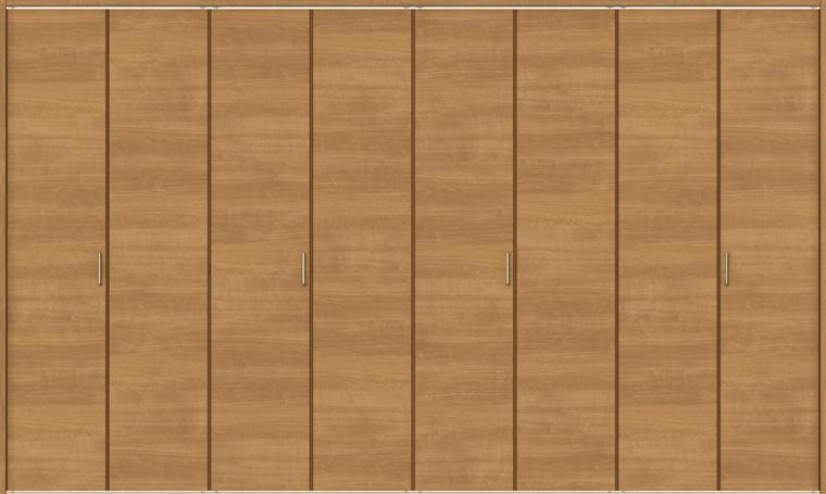 ラシッサS クローゼット 折戸レールタイプ 8枚折戸 ASCF-LAB 3423 W:3,376mm × H:2,306mm ノンケーシング / ケーシング LIXIL リクシル TOSTEM トステム