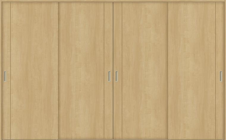 特注サイズ ラシッサS 室内引戸 Vレール方式 引違い4枚建て ASHF-LAC 錠無しW:2341-3949mm × H:1728-2425mm ノンケーシング/ケーシング LIXIL TOSTEM