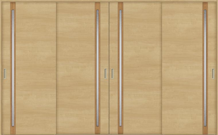ラシッサS 室内引戸 Vレール方式 引違い4枚建て ASHF-LGF 錠無し 3220 W:3,253mm × H:2,023mm ノンケーシング / ケーシング LIXIL リクシル TOSTEM
