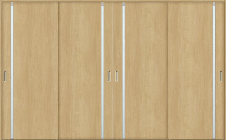【美品】 LIXIL 引違い4枚建て 特注サイズ H:1728-2425mm 錠無しW:2341-3949mm ノンケーシング/ケーシング TOSTEM:Clair(クレール)店 × ASHF-LGL ラシッサS 室内引戸 Vレール方式-木材・建築資材・設備
