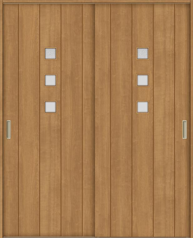 【5%OFF】 Vレール方式 H:1728-2425mm TOSTEM:Clair(クレール)店 特注サイズ ラシッサS LIXIL 室内引戸 W:1188-1992mm ASHH-LGE 錠無し × 引違い2枚建て ノンケーシング/ケーシング-木材・建築資材・設備