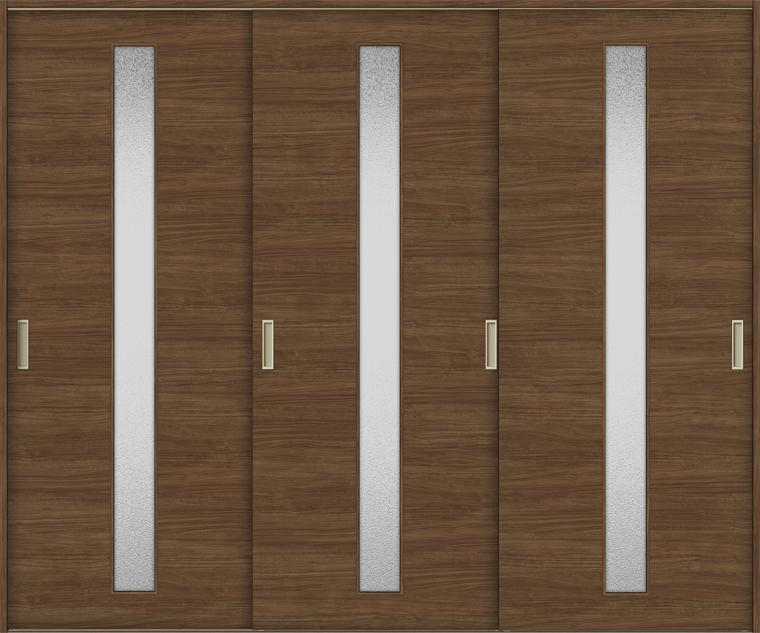 ラシッサS 室内引戸 Vレール方式 引違い3枚建て ASHT-LGB 錠無し 2420 W:2,432mm × H:2,023mm ノンケーシング / ケーシング LIXIL リクシル TOSTEM