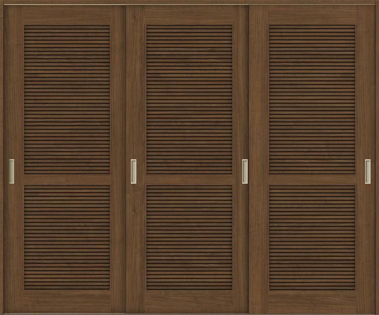 ラシッサS 室内引戸 Vレール方式 引違い3枚建て ASHT-LTA 錠無し 2420 W:2,432mm × H:2,023mm ノンケーシング / ケーシング LIXIL リクシル TOSTEM