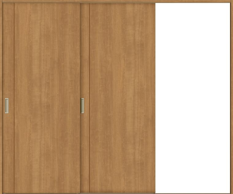 ラシッサS 室内引戸 Vレール方式 片引戸2枚建て ASKD-LAC 錠無し 2420 W:2,432mm × H:2,023mm ノンケーシング / ケーシング LIXIL リクシル TOSTEM
