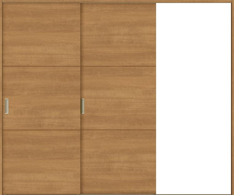 ラシッサS 室内引戸 Vレール方式 片引戸2枚建て ASKD-LAD 錠無し 2420 W:2,432mm × H:2,023mm ノンケーシング / ケーシング LIXIL リクシル TOSTEM