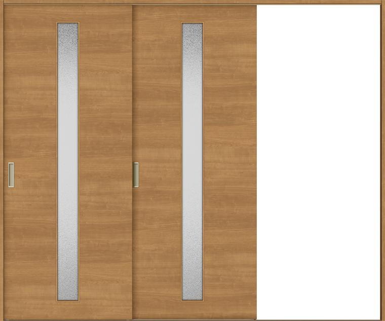 特注サイズ ラシッサS 室内引戸 Vレール方式 片引戸2枚建て ASKD-LGB 錠無し W:1748-2954mm × H:1728-2425mm ノンケーシング/ケーシング LIXIL TOSTEM