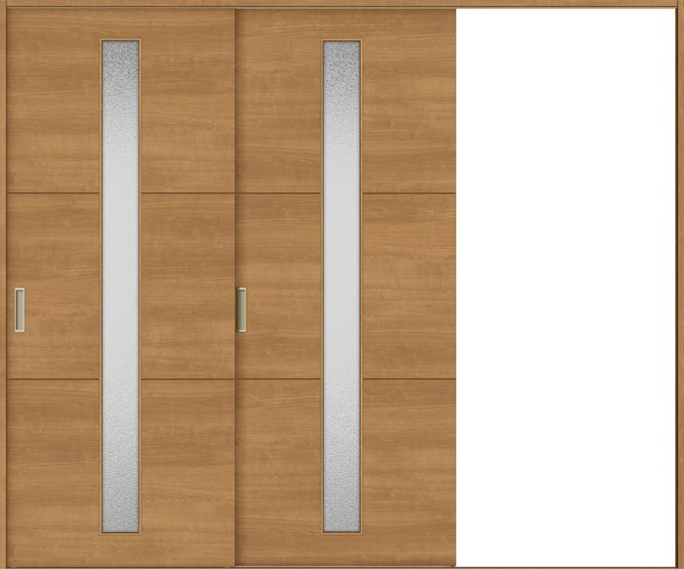 特注サイズ ラシッサS 室内引戸 Vレール方式 片引戸2枚建て ASKD-LGD 錠無し W:1748-2954mm × H:1728-2425mm ノンケーシング/ケーシング LIXIL TOSTEM