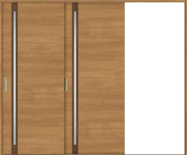 特注サイズ ラシッサS 室内引戸 Vレール方式 片引戸2枚建て ASKD-LGF 錠無し W:1748-2954mm × H:1728-2425mm ノンケーシング/ケーシング LIXIL TOSTEM
