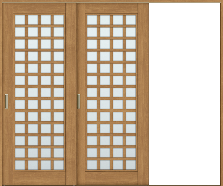 ラシッサS 室内引戸 Vレール方式 片引戸2枚建て ASKD-LGS 錠無し 2420 W:2,432mm × H:2,023mm ノンケーシング / ケーシング LIXIL リクシル TOSTEM