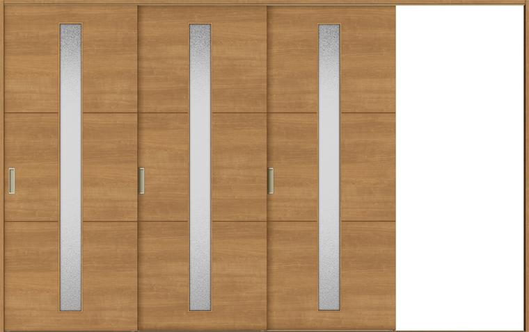 ラシッサS 室内引戸 Vレール方式 片引戸3枚建て ASKT-LGD 錠無し 3220 W:3,220mm × H:2,023mm ノンケーシング / ケーシング LIXIL リクシル TOSTEM
