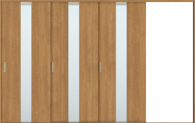 人気ブランドの × 室内引戸 片引戸3枚建て 錠無し ASKT-LGM Vレール方式 TOSTEM:Clair(クレール)店 ラシッサS H:1728-2425mm 特注サイズ W:2308-3916mm LIXIL ノンケーシング/ケーシング-木材・建築資材・設備