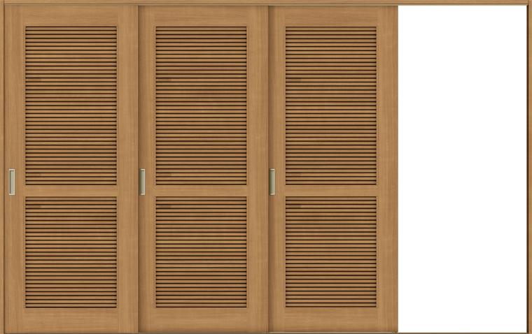 ラシッサS 室内引戸 Vレール方式 片引戸3枚建て ASKT-LTA 錠無し 3220 W:3,220mm × H:2,023mm ノンケーシング / ケーシング LIXIL リクシル TOSTEM