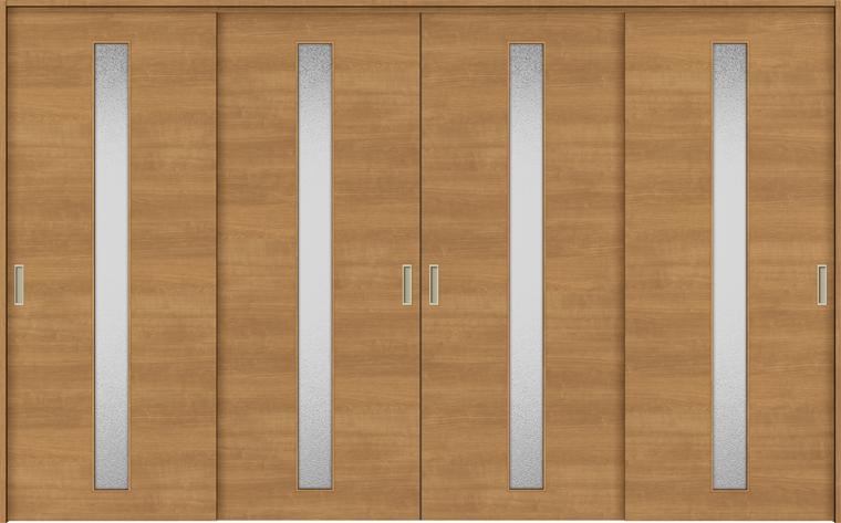 特注サイズ ラシッサS 室内引戸 間仕切り上吊引戸 引違い戸4枚建て ASMHF-LGB 錠無し W:2149-3949mm × H:1750-2425mm ノンケーシング/ケーシング LIXIL