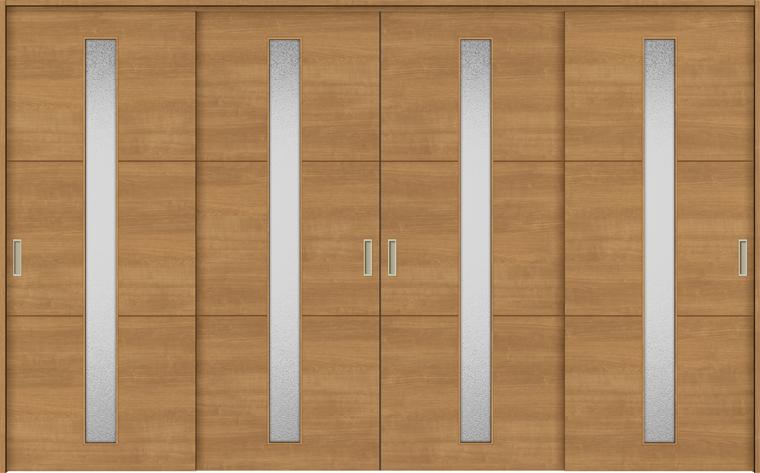 特注サイズ ラシッサS 室内引戸 間仕切り上吊引戸 引違い戸4枚建て ASMHF-LGD 錠無し W:2149-3949mm × H:1750-2425mm ノンケーシング/ケーシング LIXIL