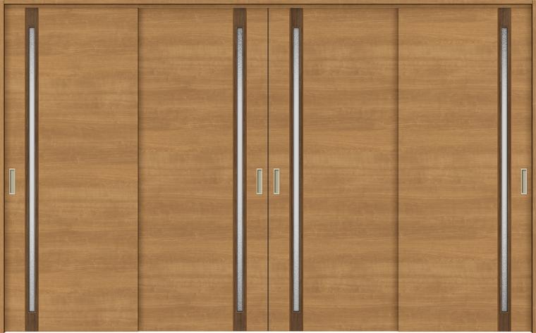 特注サイズ ラシッサS 室内引戸 間仕切り上吊引戸 引違い戸4枚建て ASMHF-LGF 錠無し W:2149-3949mm × H:1750-2425mm ノンケーシング/ケーシング LIXIL