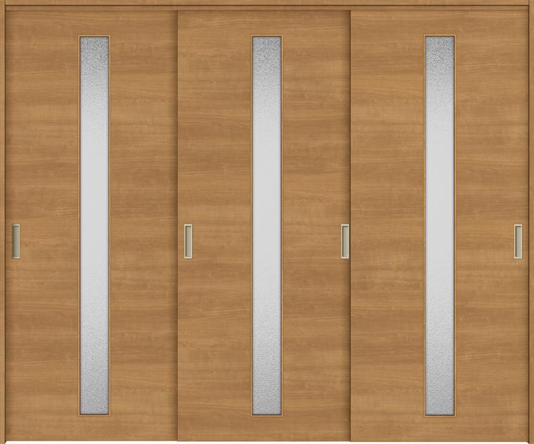 特注サイズ ラシッサS 室内引戸 間仕切り上吊引戸 引違い戸3枚建て ASMHT-LGB 錠無し W:1604-2954mm × H:1750-2425mm ノンケーシング/ケーシング LIXIL