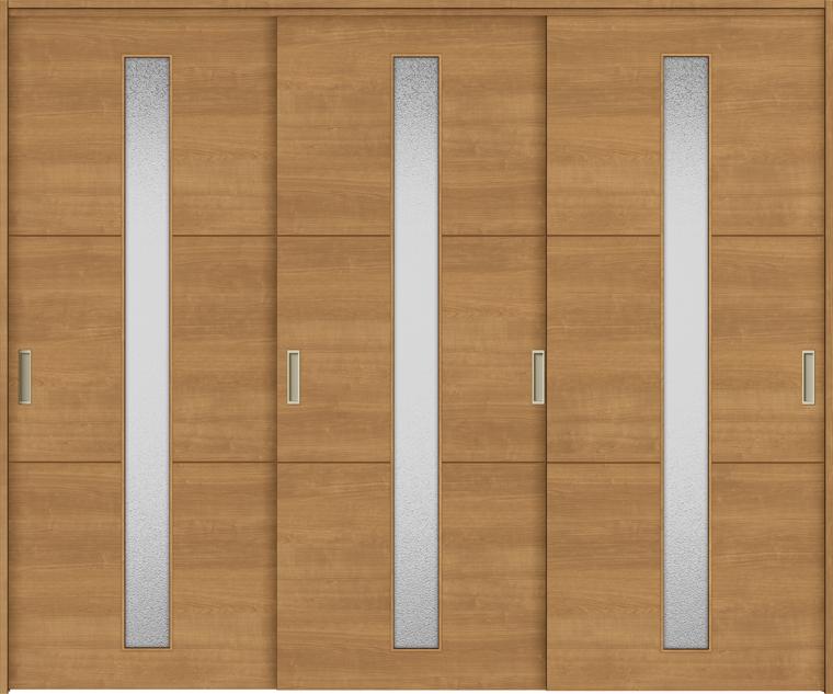 特注サイズ ラシッサS 室内引戸 間仕切り上吊引戸 引違い戸3枚建て ASMHT-LGD 錠無し W:1604-2954mm × H:1750-2425mm ノンケーシング/ケーシング LIXIL