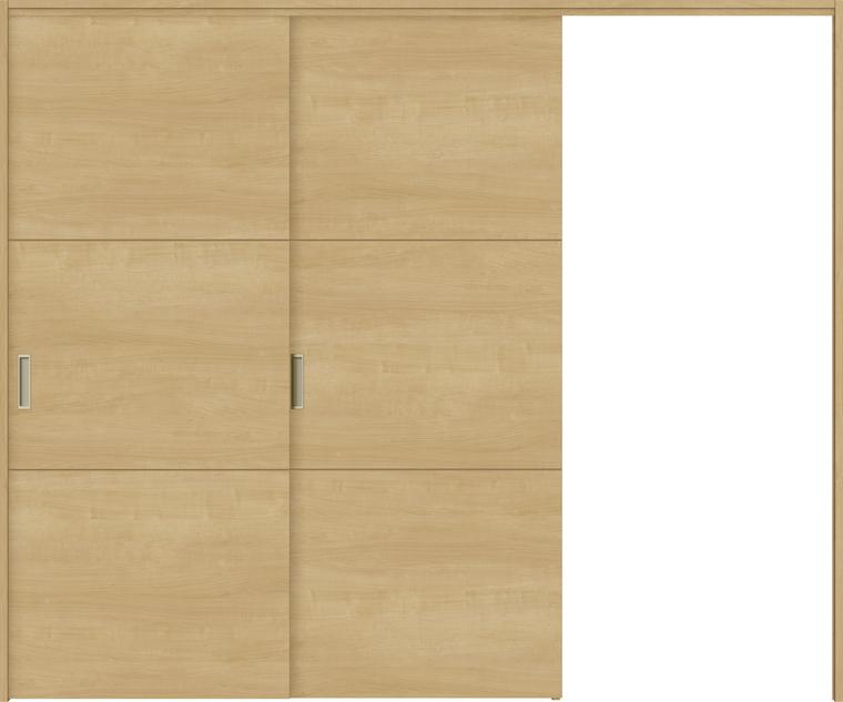 特注サイズ ラシッサS 室内引戸 間仕切り上吊引戸 片引戸2枚建て ASMKD-LAD 錠無し W:1604-2954mm × H:1750-2425mm ノンケーシング/ケーシング LIXIL