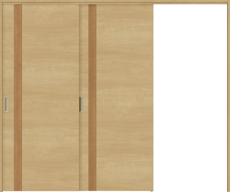 ラシッサS 室内引戸 間仕切り 上吊引戸 片引戸 2枚建て ASMKD-LAF 錠無し 2423 W:2,432mm × H:2,306mm ノンケーシング / ケーシング LIXIL TOSTEM