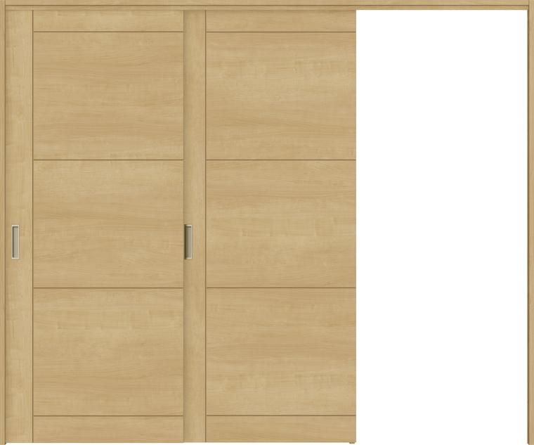 特注サイズ ラシッサS 室内引戸 間仕切り上吊引戸 片引戸2枚建て ASMKD-LAP 錠無し W:1604-2954mm × H:1750-2425mm ノンケーシング/ケーシング LIXIL
