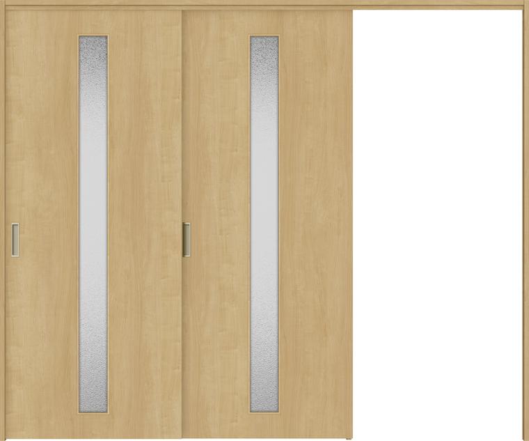 特注サイズ ラシッサS 室内引戸 間仕切り上吊引戸 片引戸2枚建て ASMKD-LGA 錠無し W:1604-2954mm × H:1750-2425mm ノンケーシング/ケーシング LIXIL