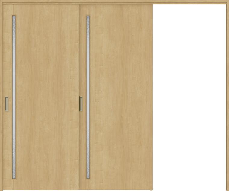 特注サイズ ラシッサS 室内引戸 間仕切り上吊引戸 片引戸2枚建て ASMKD-LGC 錠無し W:1604-2954mm × H:1750-2425mm ノンケーシング/ケーシング LIXIL