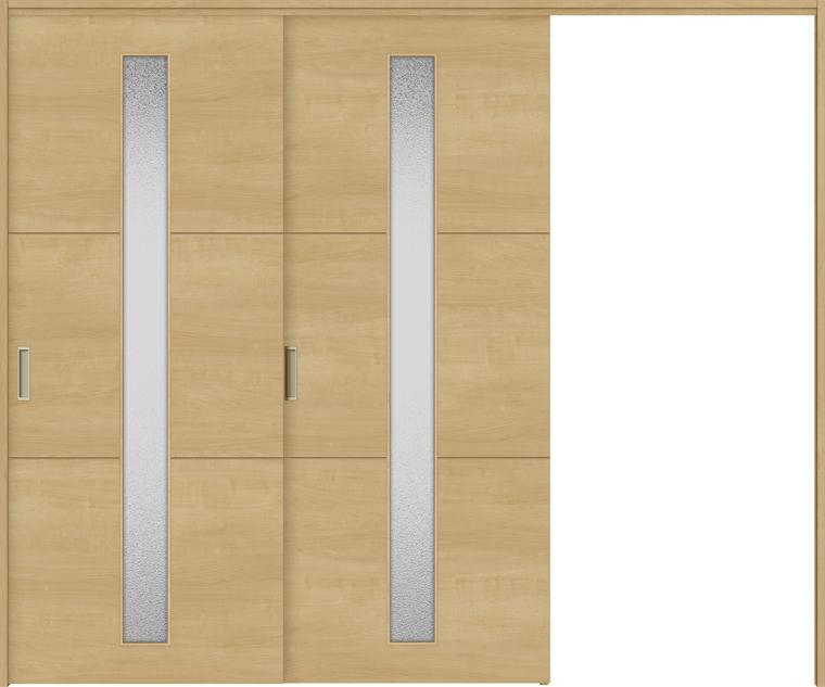 特注サイズ ラシッサS 室内引戸 間仕切り上吊引戸 片引戸2枚建て ASMKD-LGD 錠無し W:1604-2954mm × H:1750-2425mm ノンケーシング/ケーシング LIXIL