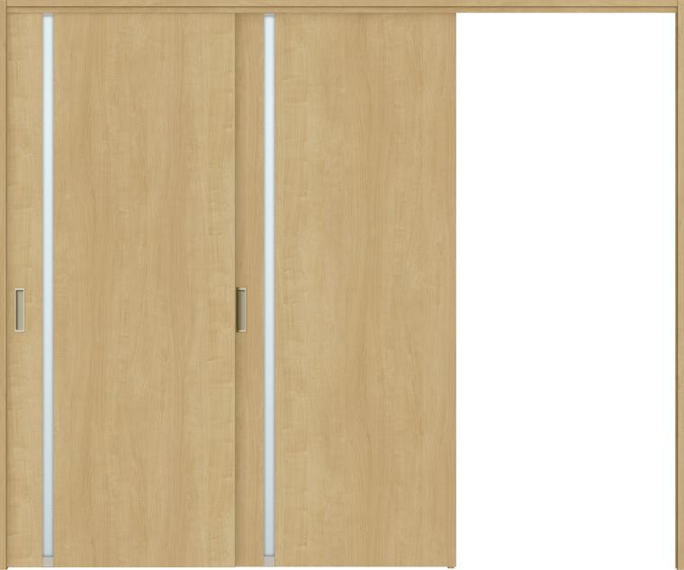 特注サイズ ラシッサS 室内引戸 間仕切り上吊引戸 片引戸2枚建て ASMKD-LGL 錠無し W:1604-2954mm × H:1750-2425mm ノンケーシング/ケーシング LIXIL