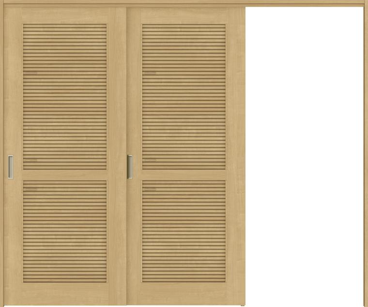 ラシッサS 室内引戸 間仕切り 上吊引戸 片引戸 2枚建て ASMKD-LTA 錠無し 2423 W:2,432mm × H:2,306mm ノンケーシング / ケーシング LIXIL TOSTEM