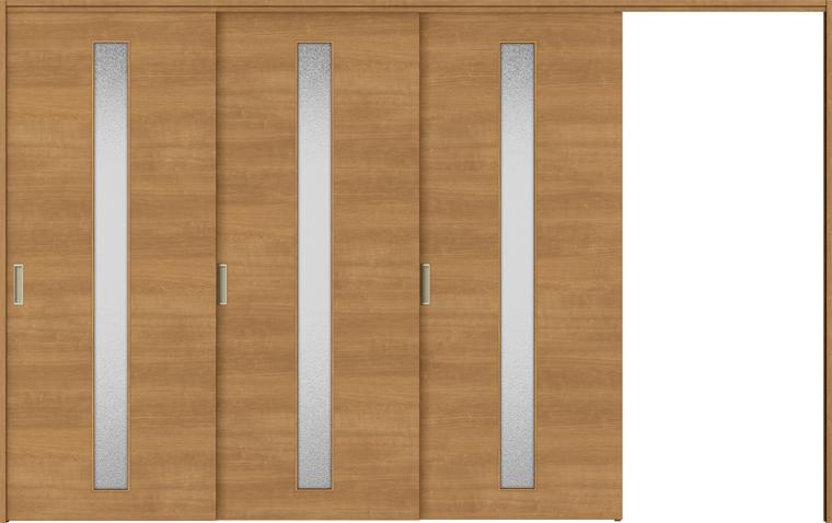 ラシッサS 室内引戸 間仕切り 上吊引戸 片引戸 3枚建て ASMKT-LGB 錠無し 3220 W:3,220mm × H:2,023mm ノンケーシング / ケーシング LIXIL TOSTEM