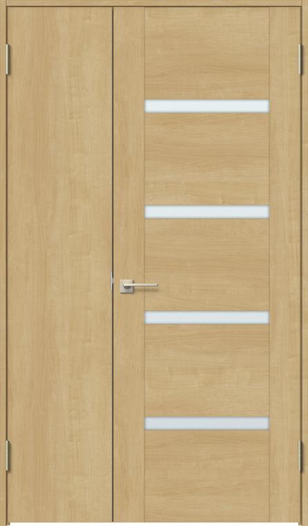 特注サイズ ラシッサS 親子ドア ASTO-LGR 錠無し W:889-1,408mm × H:1740-2,425mm ノンケーシング / ケーシング LIXIL リクシル TOSTEM トステム