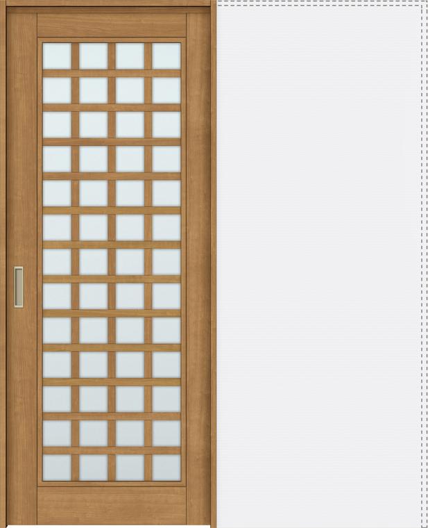 ラシッサS 上吊引戸 引込み戸標準 ASUHK-LGS 1820J 錠付 W:1,824mm × H:2,023mm ノンケーシング / ケーシング LIXIL リクシル TOSTEM トステム