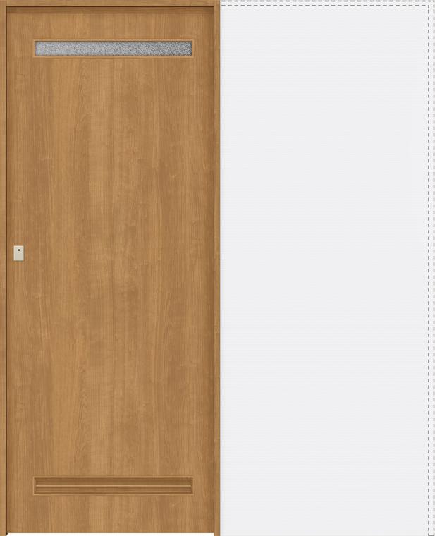 ラシッサS 上吊引戸 引込み戸トイレ(明り採り/採光窓付) ASUHL-LYA 1820J 錠付 W:1,824mm × H:2,023mm ノンケーシング / ケーシング LIXIL リクシル TOSTEM