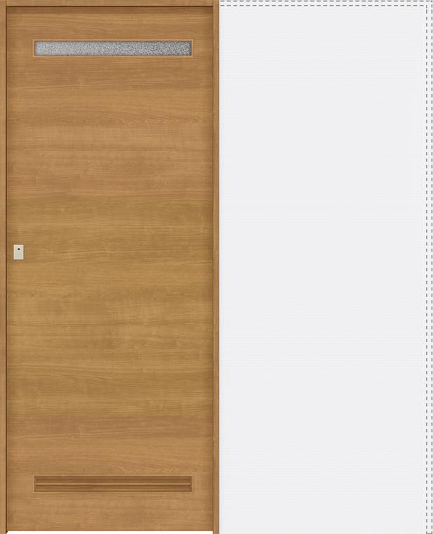 ラシッサS 上吊引戸 引込み戸トイレ(明り採り/採光窓付) ASUHL-LYB 1620J 錠付 W:1,644mm × H:2,023mm ノンケーシング / ケーシング LIXIL リクシル TOSTEM