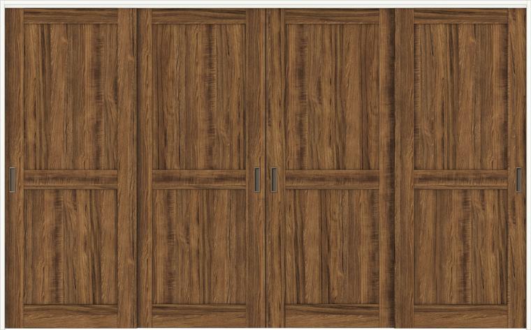特注サイズ ラシッサDヴィンティア 室内引戸 間仕切り上吊引戸 引違い戸4枚建て AVMHF-LAH 錠なし W:2149-3949mm × H:1750-2425mm