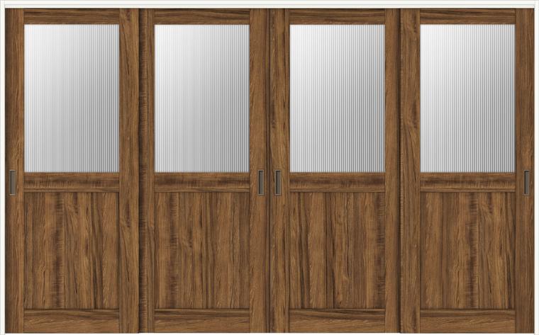 ラシッサD ヴィンティア 室内引戸 間仕切り 上吊引戸 引違い戸 4枚建て AVMHF-LGH 錠無し 3223 W:3,253mm × H:2,306mm ノンケーシング / ケーシング LIXIL