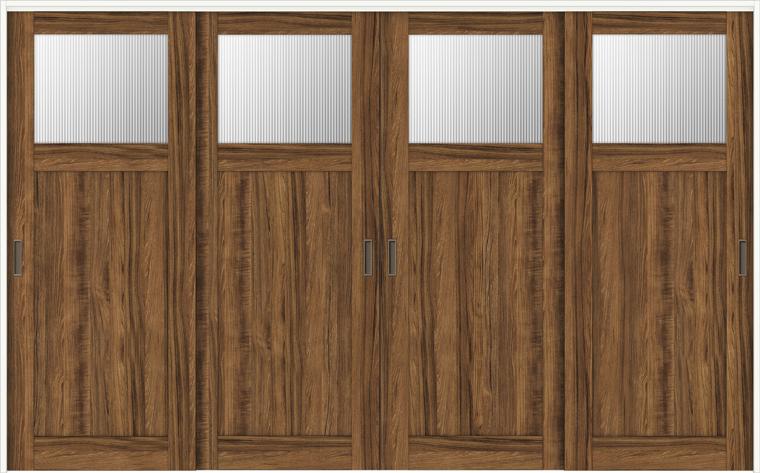 ラシッサD ヴィンティア 室内引戸 間仕切り 上吊引戸 引違い戸 4枚建て AVMHF-LGJ 錠無し 3223 W:3,253mm × H:2,306mm ノンケーシング / ケーシング LIXIL