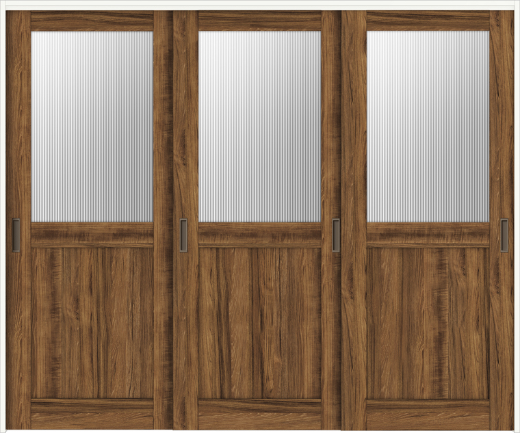 ラシッサD ヴィンティア 室内引戸 間仕切り 上吊引戸 引違い戸 3枚建て AVMHT-LGH 錠無し 2423 W:2,432mm × H:2,306mm ノンケーシング / ケーシング LIXIL