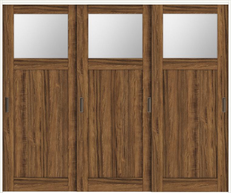 ラシッサD ヴィンティア 室内引戸 間仕切り 上吊引戸 引違い戸 3枚建て AVMHT-LGJ 錠無し 2420 W:2,432mm × H:2,023mm ノンケーシング / ケーシング LIXIL